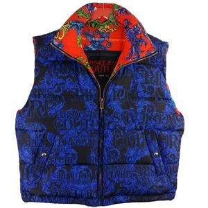 Versace Jeans Couture Reversible Logo Puffer Vest